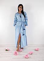 Ультра модное платье небесно-голубого цвета, фото 1