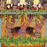 """Схема для вышивки бисером на холсте """"Рождественские сувениры"""" (20 х 20 см) AC-075 Abris Art"""