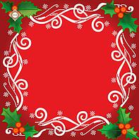 """Схема для вышивки салфетки """"Рождественские узоры"""""""