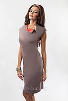 Платье женское с коротким рукавом. Модель 17033 Enny.
