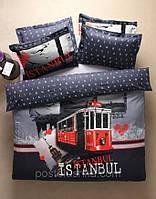 Комплект постельного белья Karaca Home City Istanbul (трамвай)