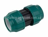 Муфта (фитинг) зажимная 25*25 для соединения полиэтиленовой трубы диаметром 25 мм Poelsan Турция