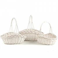 Плетеные корзины для цветочных композиций или хранения вещей (41*34*42 см)