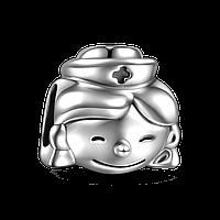 """Медсестра"" подвеска - шарм на браслет серебро 925 Soufeel"