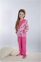 Пижама детская, подростковая для девочки розовая хлопок Wiktoria W 160 комплект