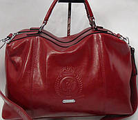 Женская  сумка тёмно - красного цвета Velina Fabbiano