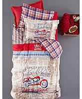 Комплект детского постельного белья Karaca Home The Bikers красный