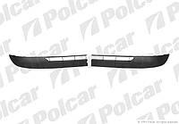 Накладки на передний бампер Renault Kangoo 2 Polcar 606207-4