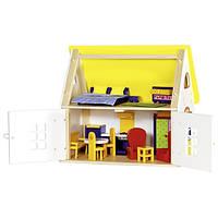 GOKI - Деревянный кукольный дом с мебелью