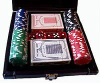 Набор для покера в кожаном кейсе