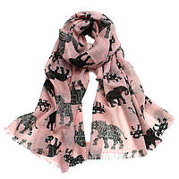 Женский весенний шарф со слонами