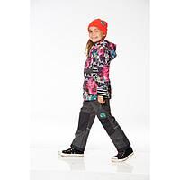 Демисезонный костюм для девочки от 2 до 10 лет (куртка, брюки, шапочка) ТМ Deux par Deux PI55-00