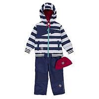Демисезонный комплект для мальчика от 2 до 10 лет (куртка, брюки, шапочка) ТМ Deux par Deux PS59-481