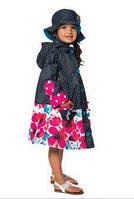 Демисезонный плащ для девочки от 2 до 10 лет (плащ, шляпка) ТМ Deux par Deux PF66-999