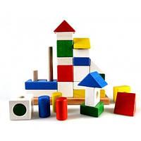 """Детская деревянная пирамидка-конструктор """"Дворец"""" ТМ """"Руди"""" Разноцветный Ду-23"""
