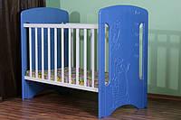 """Детская кроватка для новорожденного """"Коты с ростомером"""" ТМ Pinocchio"""