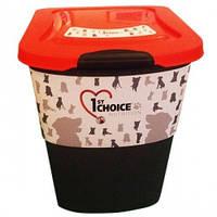 Контейнер для хранения корма 1st Choice фирменный, пластик, 15кг