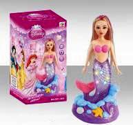 Кукла русалка со светящимся хвостом 901-364