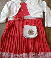 Нарядное платье для девочки из Турции, 3 года, цвет темно-синий