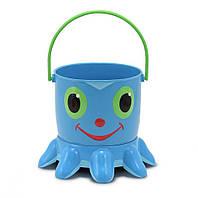 """Детский набор для песочницы """"Осьминожка"""" (Flex Octopus Pail and Sifter) ТМ Melissa & Doug синий MD6404"""