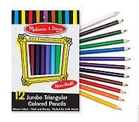 Детский набор Цветные карандаши (12 цветов) ТМ Melissa & Doug MD4119