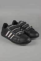Кроссовки  Adidas. Обувь спортивная. Спортивная обувь.Кроссовки Adidas черные на липучках