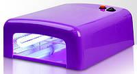 УФ лампа для сушки геля, гель-лака на 36 Вт W-818, фиолетовая глянец