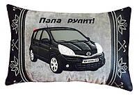 Подушка-сувенир с вышивкой силуэта Вашего авто