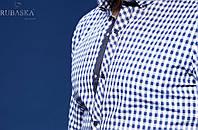 Молодежная мужская рубашка в клетку оптом и в розницу