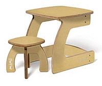 Комплект детской мебели Карапуз (стол+стул) для детей до 6 лет ТМ Мими Желтый текстиль