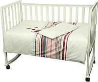 Комплект постельного белья в детскую кроватку Зайцы (пододеяльник, наволочка, простынь, 100% хлопок) ТМ Руно