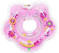 Круг для купания  младенцев на шею BABY GIRL KinderenOK розовый