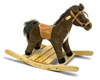 Мягкая игрушка - Плюшевая Лошадка-качалка (Rock and Trot Plush Rocking Horse) ТМ Melissa & Doug MD2137