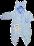 Человечек махровый с капюшоном с подкладкой из 100% хлопка, ТМ Baby Life, р. 56, 62