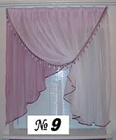 Готовые шторы, ламбрикены для кухни №9 фиолетовая Затишна оселя