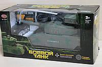 Танк на р/у, стреляет пулями, аккумуляторы в комплекте коробка 30-15-12 см