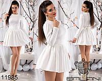 Короткое платье с пышной юбкой на Новый год р. 42-46 11984 3 цвета