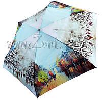 Женский зонт МИНИ Осень в Париже  (механика)  арт. 25515-17
