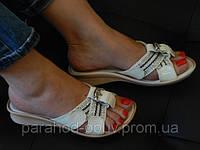 Сабо женские белые лаковая кожа 5150-6