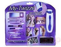 Прибор для удаления волос Твизер (Twizzer) + Маникюрный набор (13 предметов)