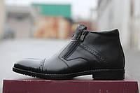 Зимние туфли Vivaro (натуральная кожа), зимние туфли на меху, замшевые туфли