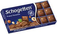 """Молочный шоколад """"Schogetten Praline Noisettes"""" 100 г с наполнителем """"Нуга""""."""
