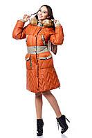 Пуховик женский зимний на синтепоне ПВ-849 (и/м) Лаке Тон 573
