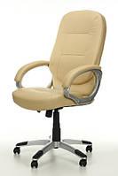 Офисное кресло ARTIX бежевое кожаное