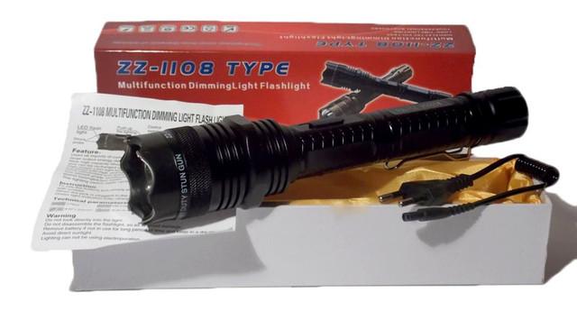 Электрошокер Усиленный ZZ 1108 Titan Professional (Шокер Титан 1108 2014)+инструкция на русском языке - фото 1