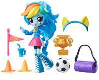 Игровой набор с мини-куклой Рейнбоу Дэш из серии My Little Pony Equestria Girls, 12 см., шарнирная
