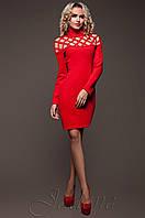 Стильное женское красное платье Тресси_2 Jadone  42-50 размеры