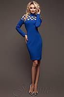 Стильное женское платье  электрик Тресси_2 Jadone  42-50 размеры