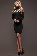 Стильное женское черное платье   Тресси_2 Jadone  42-50 размеры