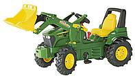 Педальный трактор с ковшом Rolly Toys Farmtrac John Deere 7930 зеленый